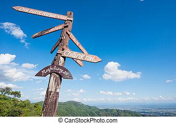 Viewpoint KM.12 at Mae Fah Luang, Chiang Rai Province,...