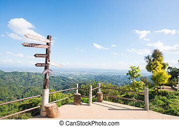 MAE FAH LUANG, THAILAND - JANUARY 13, 2017: Viewpoint KM.12...