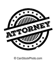 Attorney rubber stamp. Grunge design with dust scratches....
