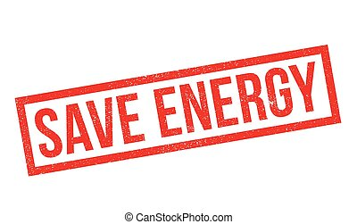 Save Energy rubber stamp