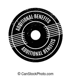 Additional Benefits rubber stamp. Grunge design with dust...