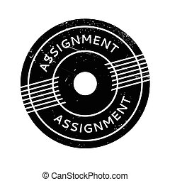 Assignment rubber stamp. Grunge design with dust scratches....
