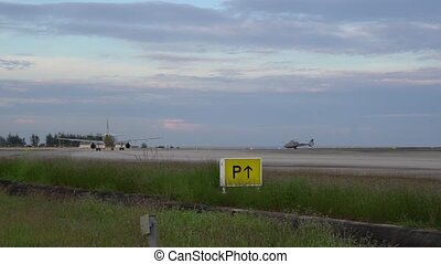 Thailland. Phuket international Airport. Airfield. Panorama...