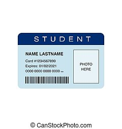 Student ID card. Place for photo