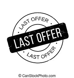 Last Offer rubber stamp. Grunge design with dust scratches....
