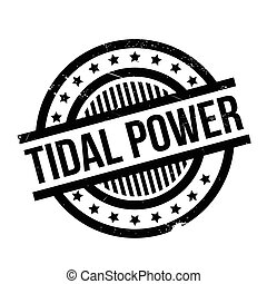 Tidal Power rubber stamp. Grunge design with dust scratches....