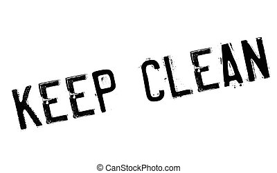 Keep Clean rubber stamp. Grunge design with dust scratches....
