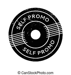Self Promo rubber stamp. Grunge design with dust scratches....