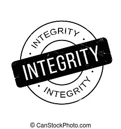 Integrity rubber stamp. Grunge design with dust scratches....