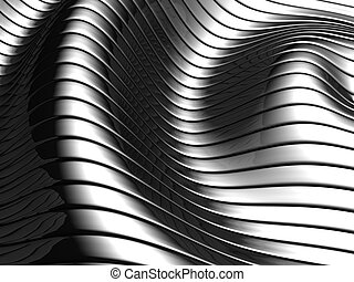 Aluminum abstract wave stripe pattern - Aluminum abstract...