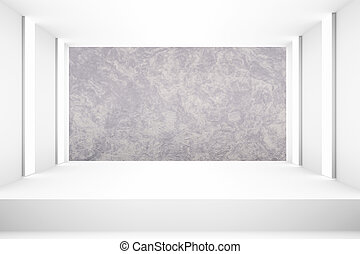 White empty room with stage for backdrop design template pr blank layout background