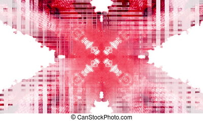 Glitch mode red and black on white loop.mov - Animated...