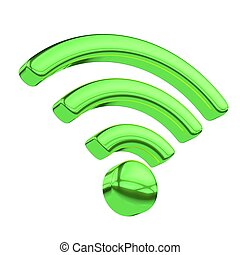 internet wi-fi connection - 3d illustration internet wi-fi...