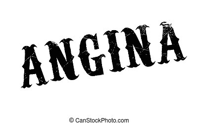 Angina rubber stamp. Grunge design with dust scratches....