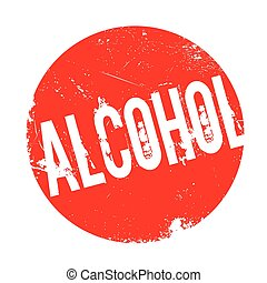 Alcohol rubber stamp. Grunge design with dust scratches....