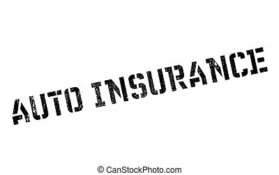 Auto Insurance rubber stamp. Grunge design with dust...