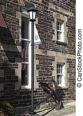 Halifax City History - The lamppost and the anchor next to...