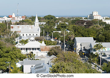 Key West Whitehead Street - The view from Key West town...