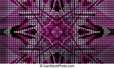 Glitch mode pink black and white abstract VJ loop.mov -...