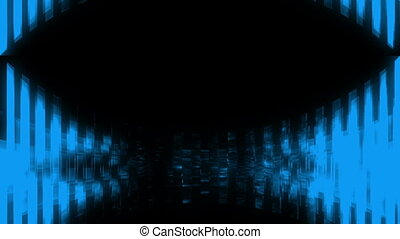 VJ looping blue geometric downward movement abstract.mov -...