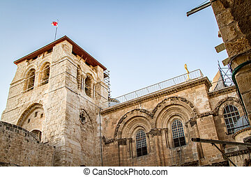 Bell tower, Church of the Holy Sepulchre in Jerusalem - Bell...