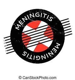 caucho, estampilla,  meningitis