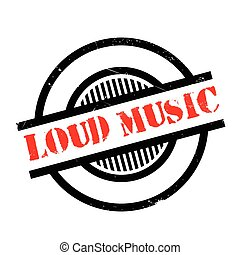 Loud Music rubber stamp