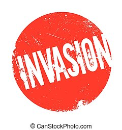 Invasion rubber stamp