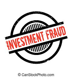 Investment Fraud rubber stamp. Grunge design with dust...