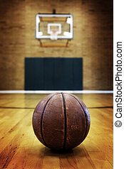 Basketball on Ball Court for Competition and Sports - Ball...