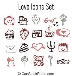 St Valentine's Day Icon Set