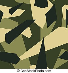 Green - Seamless vector camouflage series - Green