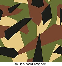 Military - Seamless vector camouflage series - Military