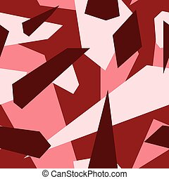 Red - Seamless vector camouflage series - Red