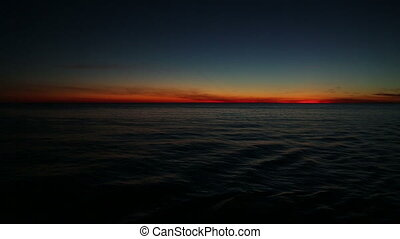 magical sunset on the ocean