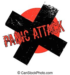 Panic Attack rubber stamp. Grunge design with dust...