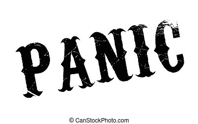 Panic rubber stamp. Grunge design with dust scratches....