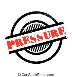 Pressure rubber stamp. Grunge design with dust scratches....