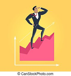 Business Success Vector Concept in Flat Design, - Business...