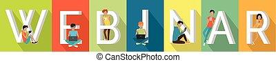Webinar or Web Conferencing. Online Conference - Webinar or...