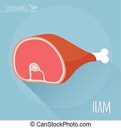 Ham vector icon.