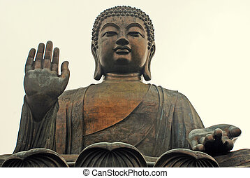 Big Buddha, Hong Kong(China) - Famouse Big Buddha on Lantau...
