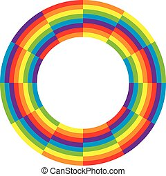 vector rainbow  round wheel circle
