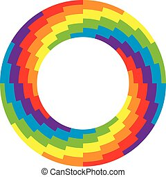 vector background of round wheel circle with rainbow colors
