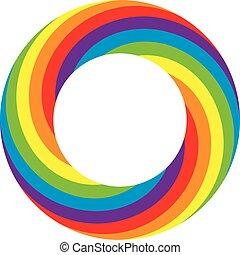 vector rainbow round wheel circle - vector colorful round...