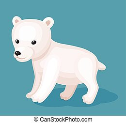 Baby wight bear - Cute icon of baby wight bear. Perfect card...