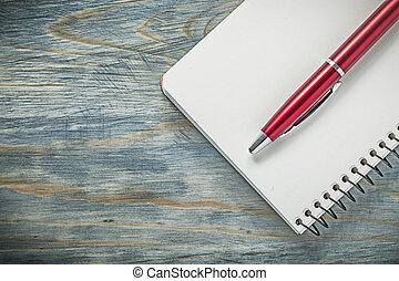 conceito, madeira, notepad, caneta, jogo, tábua, biro, em...