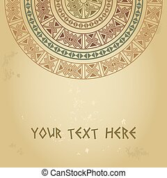template for cards, invitations, banners with ethnic...