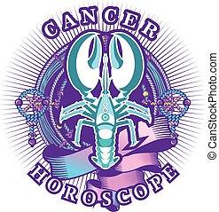 Cancer zodiac sign - Vector illustration of magic horoscope...