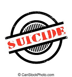 Suicide rubber stamp. Grunge design with dust scratches....